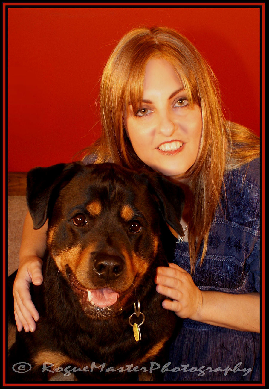 A Girl and her Rottweiler / Photography by RogueMasterPhotography / Uploaded 2nd October 2012 @ 07:55 PM