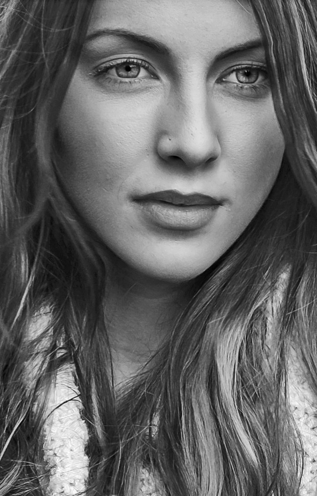 Tara B & W Portrait / Photography by DNM Photography, Model TK*, Makeup by TK*, Stylist TK* / Uploaded 7th February 2016 @ 06:16 PM