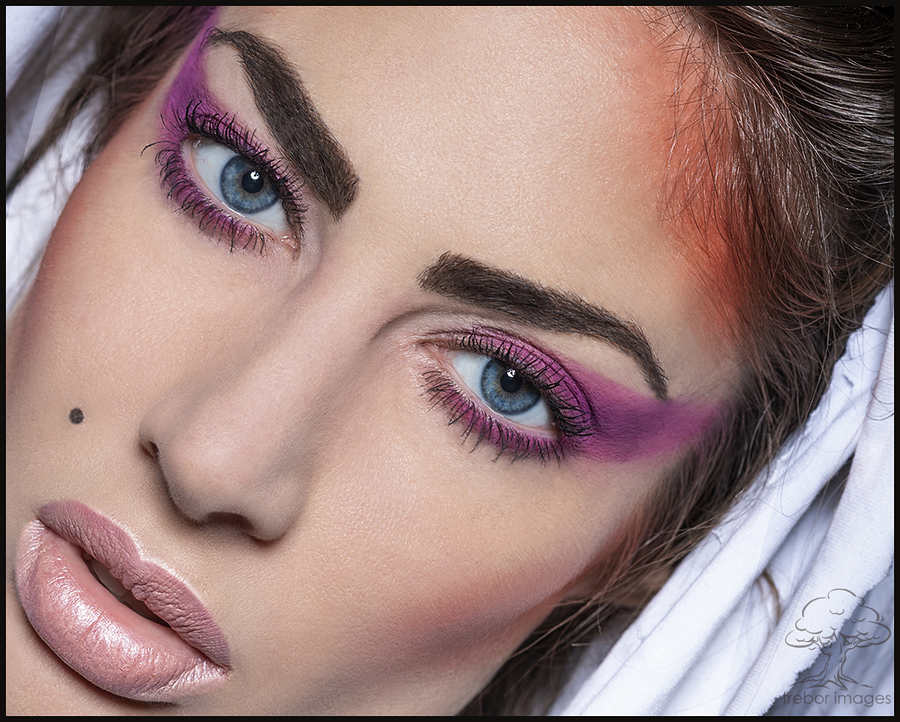 """""""Pink lips, blue eyes"""".... / Photography by trebor images, Model karina1, Post processing by trebor images, Taken at The Loft Studio / Uploaded 19th November 2018 @ 08:39 PM"""