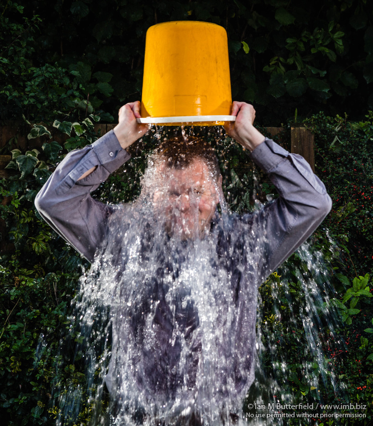 Ice Bucket Challenge Selfie / Photography by Ian M Butterfield, Model Ian M Butterfield / Uploaded 29th August 2014 @ 07:27 PM