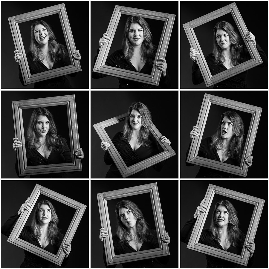 The many faces of Becky Kvittems / Photography by Ian M Butterfield, Model Becky Kvittems, Post processing by Ian M Butterfield, Taken at Ian's Studio / Uploaded 12th July 2019 @ 05:28 PM