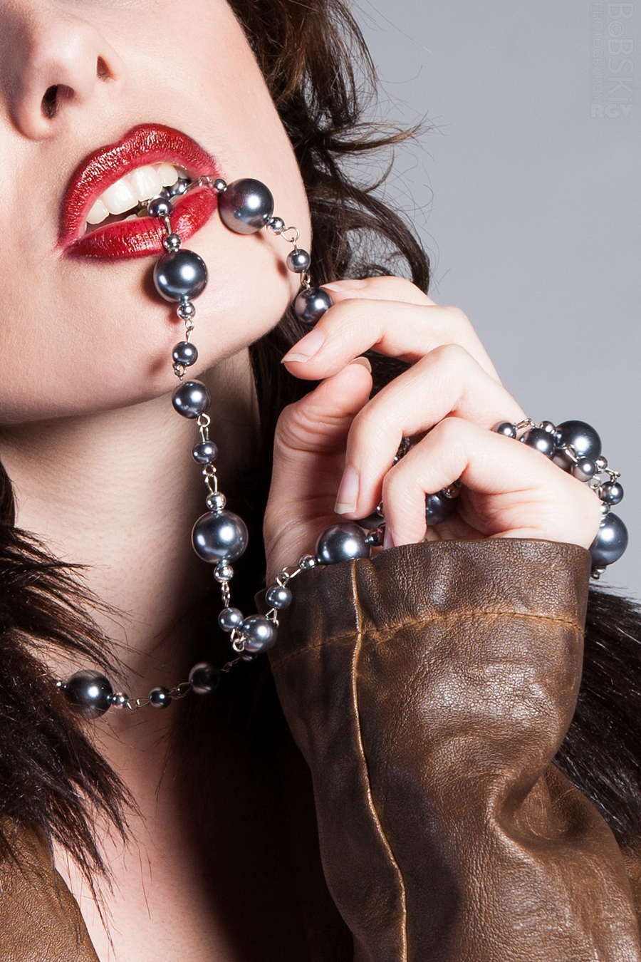 Leather, Lips and the Black Pearls / Photography by BobskiRGV, Post processing by BobskiRGV, Stylist BobskiRGV, Taken at Pathway Studios / Uploaded 12th July 2015 @ 01:34 AM