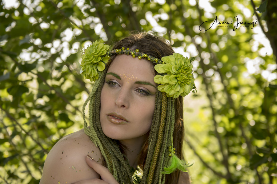Nymph / Photography by Wolfe Cottage Studio, Model Cariad Celis, Makeup by Bear MUA, Post processing by Wolfe Cottage Studio, Stylist Bear MUA, Taken at Wolfe Cottage Studio, Designer Bear MUA / Uploaded 10th June 2018 @ 09:00 PM