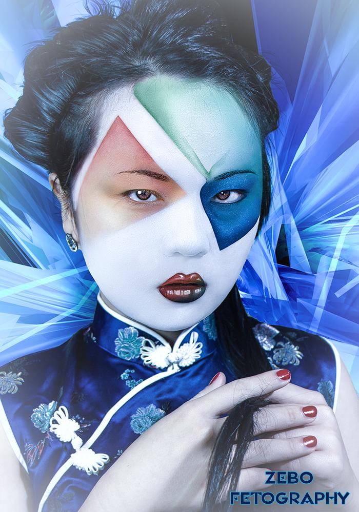 Space Geisha / Photography by zebo, Makeup by Azealia Retouching, Post processing by Azealia Retouching / Uploaded 5th January 2015 @ 01:51 AM