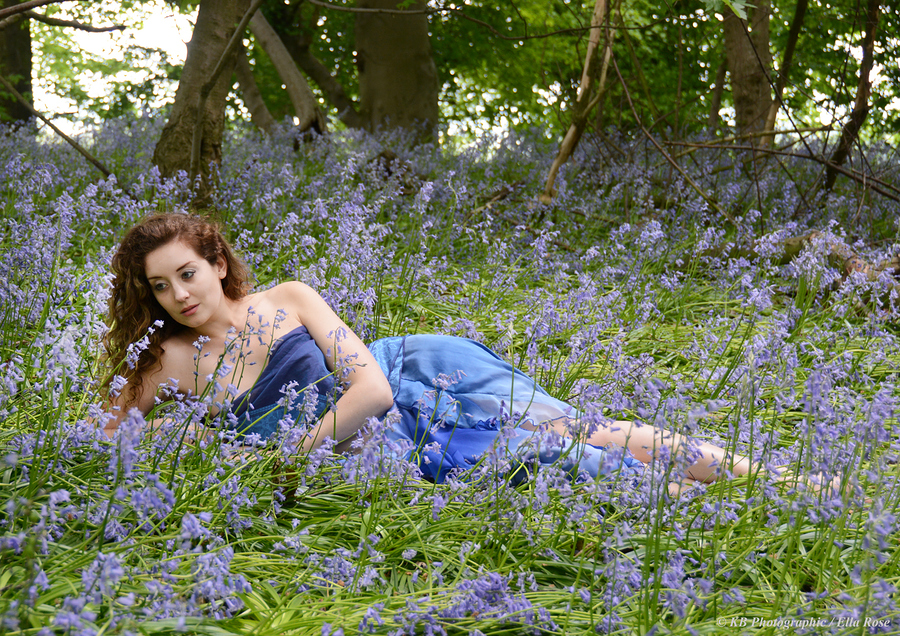 Ella Rose in amongst Blue Bells / Photography by KB Photographic, Model Ella Rose Muse, Hair styling by Ella Rose Muse / Uploaded 4th May 2015 @ 11:19 AM