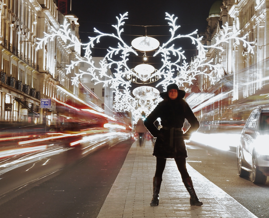 Regent Street lights / Photography by Eddie Rogers / Uploaded 24th January 2015 @ 12:27 AM