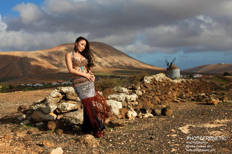 Windmill Landscape Fuerteventura / Photography by Photofrenetic, Model Aya / Uploaded 20th February 2017 @ 08:58 PM
