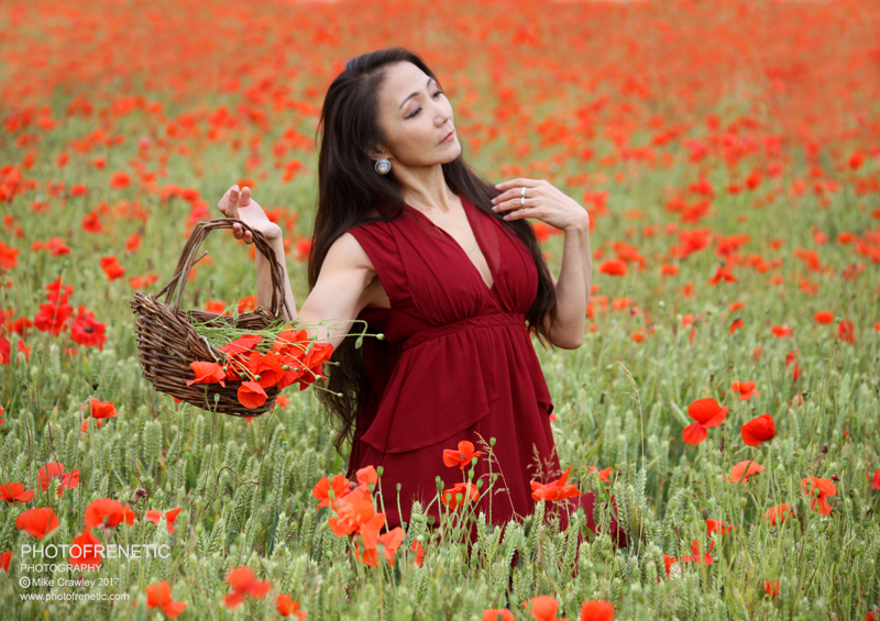 Picking Poppies / Photography by Photofrenetic, Post processing by Photofrenetic, Stylist Aya, Hair styling by Aya / Uploaded 17th July 2017 @ 08:02 PM