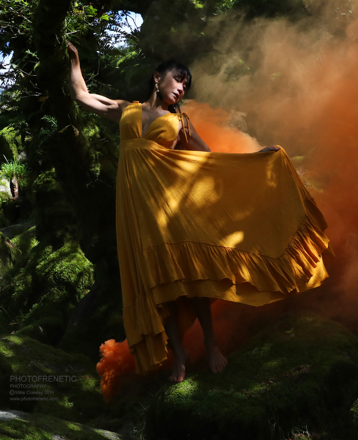 Orange Smoke, Yellow Dress / Photography by Photofrenetic, Post processing by Photofrenetic / Uploaded 10th October 2019 @ 05:47 PM