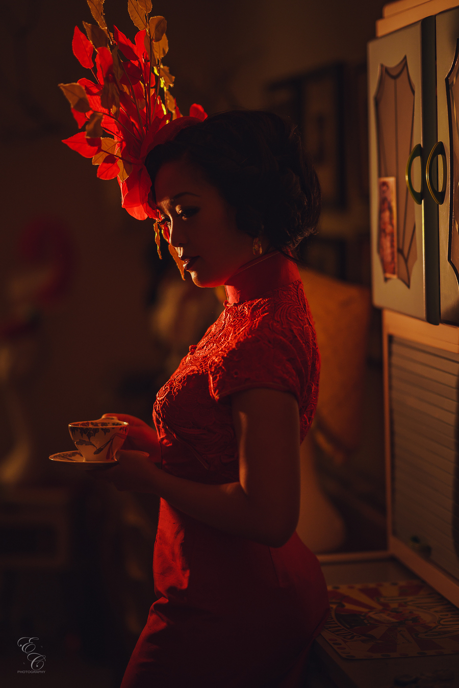 Tea, one of the constant fascinators of life. / Photography by ECPhotography, Model Marianne Cheesecake / Uploaded 21st December 2017 @ 08:59 PM