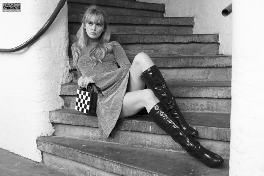 1960's / Photography by James Scrivener Photography, Model Carla Monaco, Taken at Rainbow Studio / Uploaded 31st July 2017 @ 10:04 PM