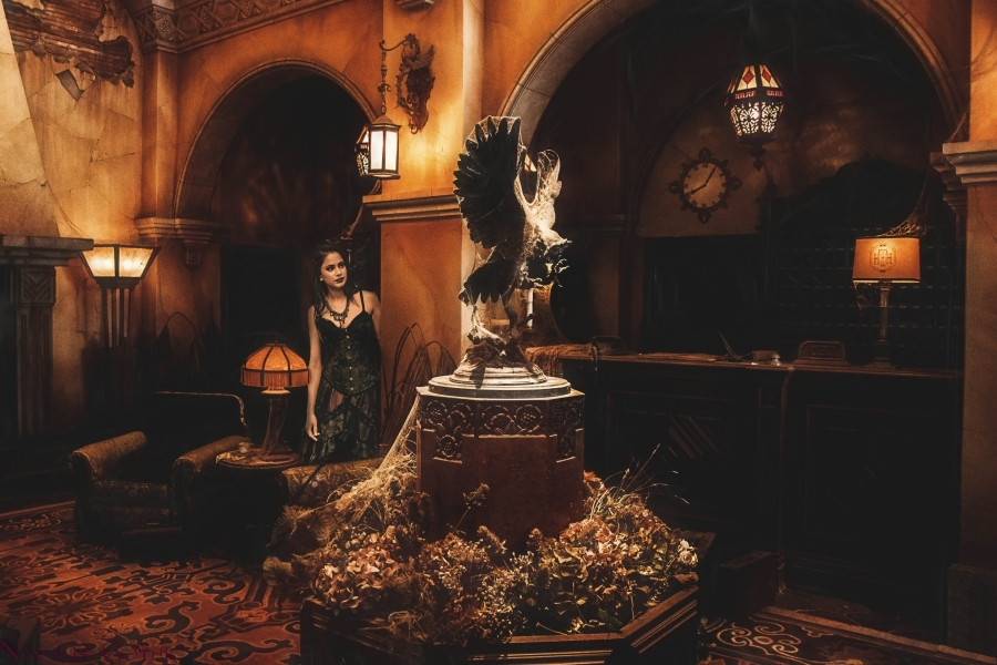 The Hollywood Tower Hotel..... / Photography by Navalis_Gothic, Model Justine Pope / Uploaded 2nd June 2019 @ 06:20 PM