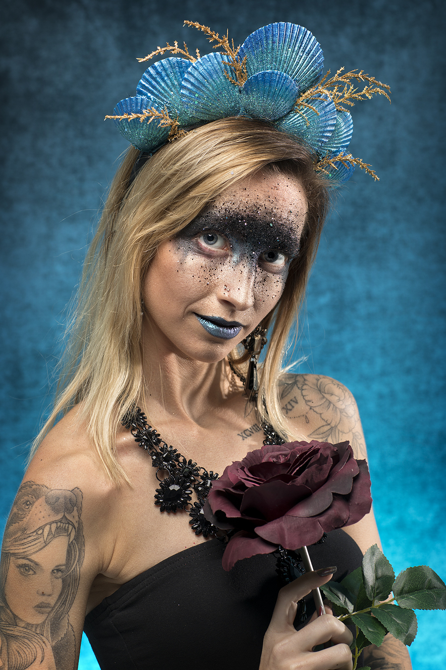 Glitter Girl / Photography by photo_lee, Model CJlock, Makeup by Sister Of Sinister, Stylist Sister Of Sinister, Taken at Rochester Studios, Hair styling by Sister Of Sinister / Uploaded 21st September 2019 @ 04:47 PM