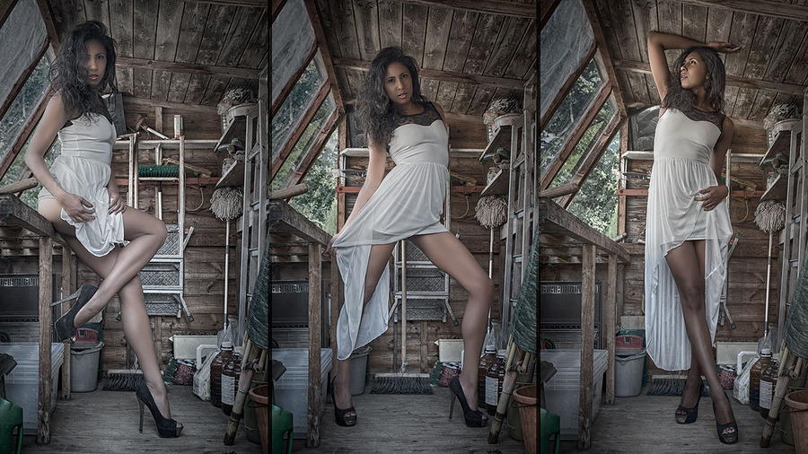 In Shed with Black Beauty 02 / Photography by David Huggett, Model BlackBeauty, Post processing by David Huggett / Uploaded 9th August 2015 @ 05:21 PM
