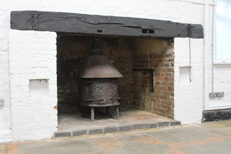 Fire place with log burner / Taken at The Coach House Studio / Uploaded 7th February 2015 @ 01:21 PM