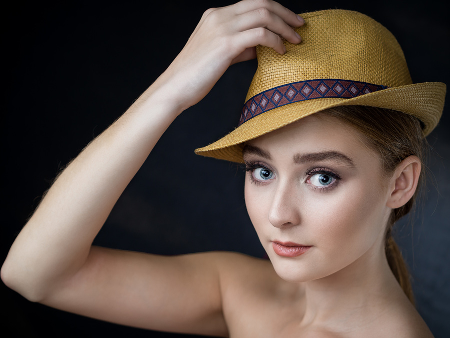 Putting on a thinking cap / Photography by FGImage, Model Bella Grace / Uploaded 4th October 2018 @ 07:46 PM