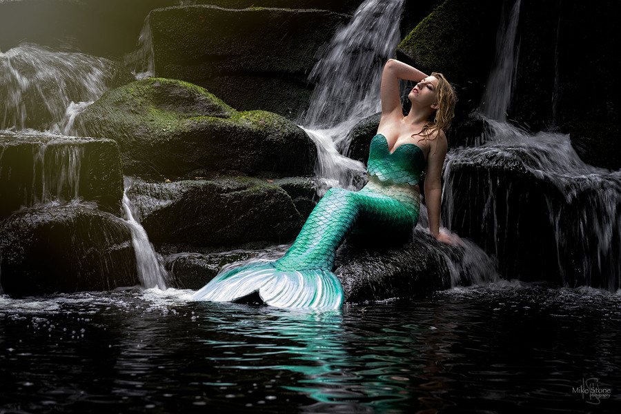 On the edge of the deep green Sea / Photography by Mike Stone, Model Grace L Page / Uploaded 17th September 2017 @ 07:32 PM