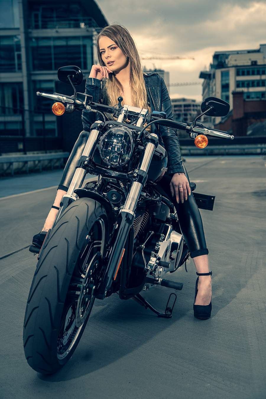 Girl on a bike / Photography by Philip Leighton photography, Model Shell jennifer, Makeup by Shell jennifer, Post processing by Philip Leighton photography, Stylist Shell jennifer / Uploaded 29th March 2020 @ 12:11 PM