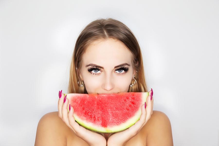 Watermelon smile. / Model Monika Lara Smith / Uploaded 19th June 2018 @ 07:57 PM