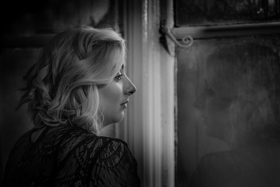 Inside looking out / Photography by Dave Lynes, Model PJ Elise, Post processing by Dave Lynes, Taken at Manor & Meadows / Uploaded 24th May 2020 @ 09:55 PM