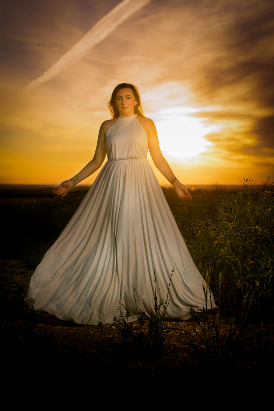 Field of Angels / Photography by Dave Lynes, Model PJ Elise, Post processing by Dave Lynes / Uploaded 15th June 2020 @ 01:07 PM