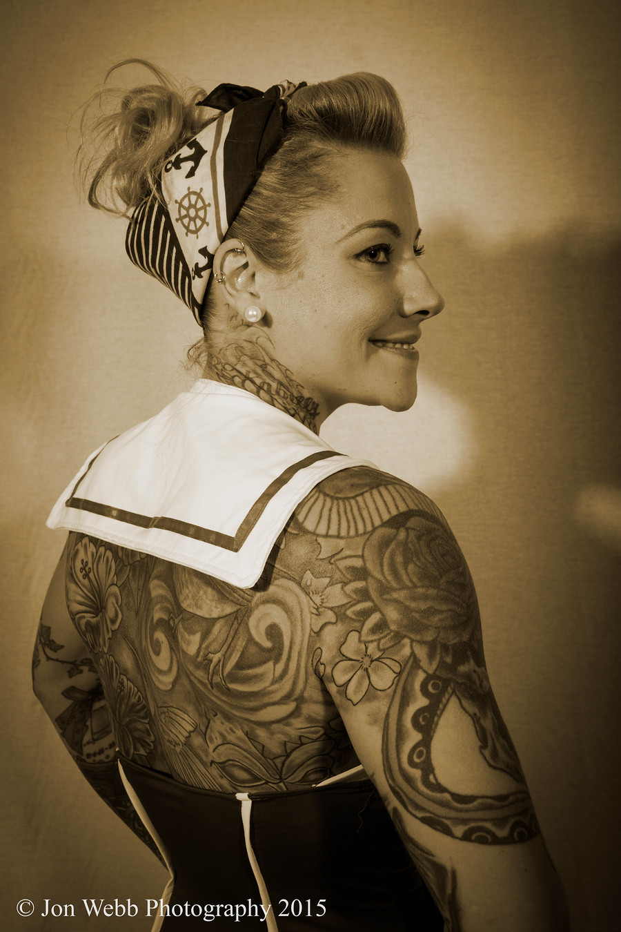 Sepia Pin Up / Photography by Jon Webb Photography uk, Post processing by Jon Webb Photography uk / Uploaded 30th October 2016 @ 11:46 AM