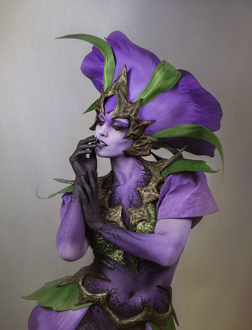 poisonous flower sprite / Photography by lorraine, Model Cariad Celis, Makeup by lorraine, Artwork by lorraine / Uploaded 21st April 2019 @ 03:26 PM