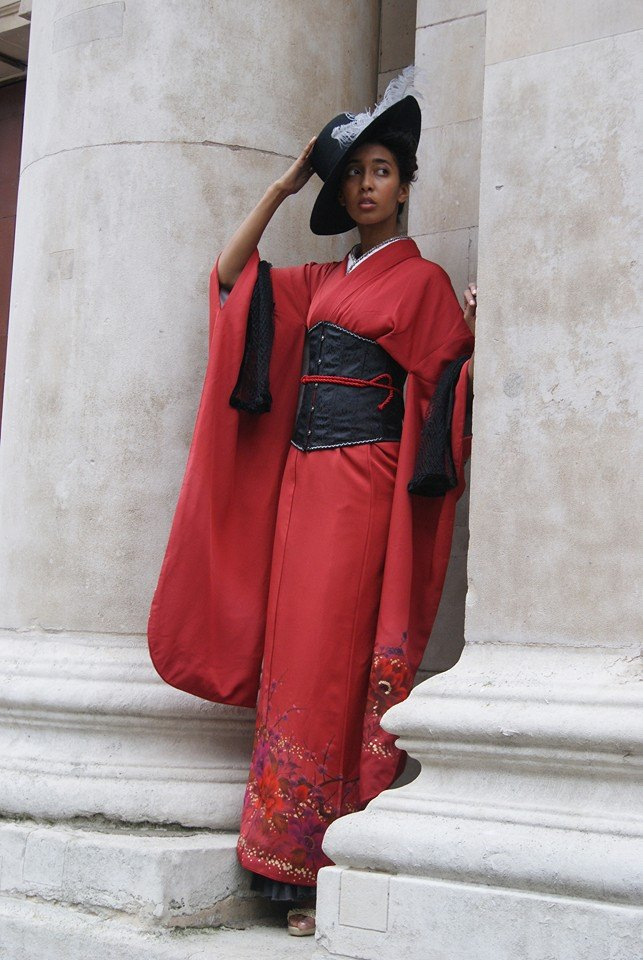 Red Modern Kimono Style with the Kimonophillia Project /  / Uploaded 10th April 2015 @ 10:54 AM