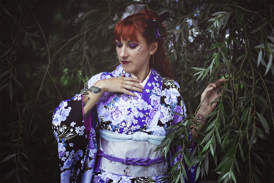 Furisode in the forest