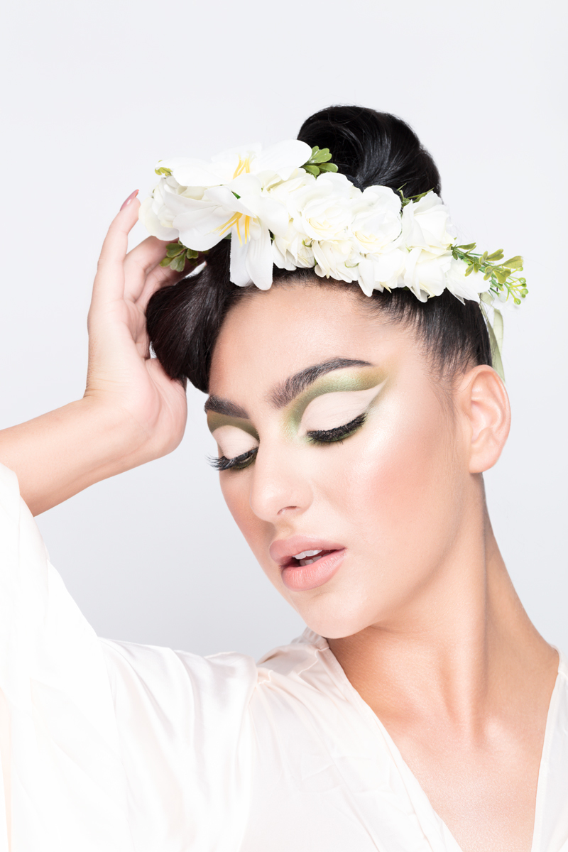 Flowers in Beauty / Model Elesha Eden, Makeup by Mariola Mamak MUA, Post processing by ZigZag Retouching, Stylist Elesha Eden, Hair styling by Elesha Eden / Uploaded 14th January 2021 @ 07:29 PM