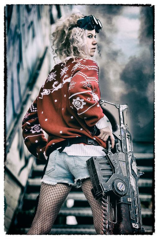 Modelling the new Gears of War Christmas Jumper / Photography by Jason Skarratt Photography, Model Electric Nymph / Uploaded 15th November 2017 @ 08:51 AM