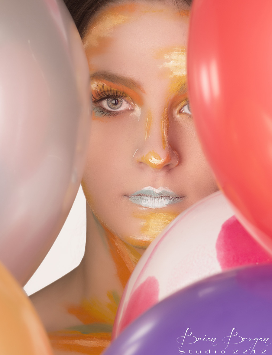 Ballons (Re-posted) / Photography by Brian Brogan, Model AidenVR, Makeup by Charlotte Bowman, Post processing by Brian Brogan, Taken at Brian Brogan / Uploaded 14th February 2018 @ 11:20 PM