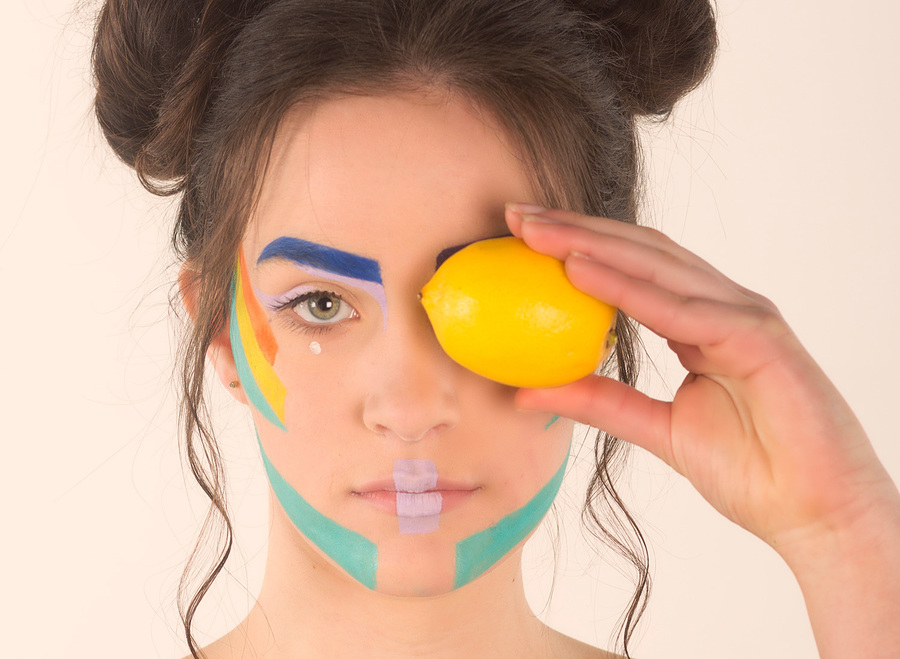 With A Touch Of Lemon / Photography by Brian Brogan, Model AidenVR, Makeup by Charlotte Bowman, Taken at Brian Brogan, Hair styling by Charlotte Bowman / Uploaded 5th May 2018 @ 02:34 PM