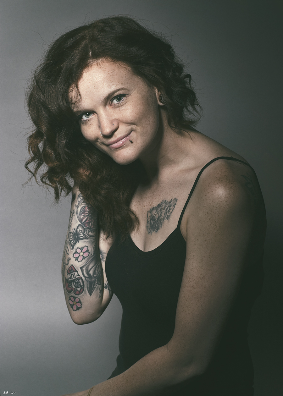 Freckles, tattoos and wild, wild hair... / Photography by Joe B, Taken at Fareham Studio / Uploaded 1st December 2019 @ 10:52 PM