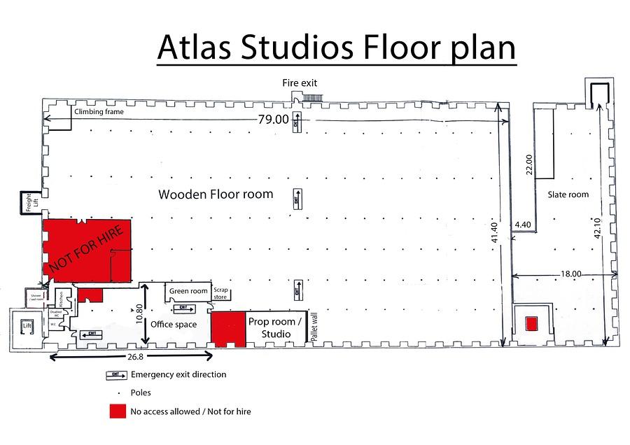 The floor plan of Atlas Studios / Taken at Atlas_Studios / Uploaded 6th March 2016 @ 12:51 AM