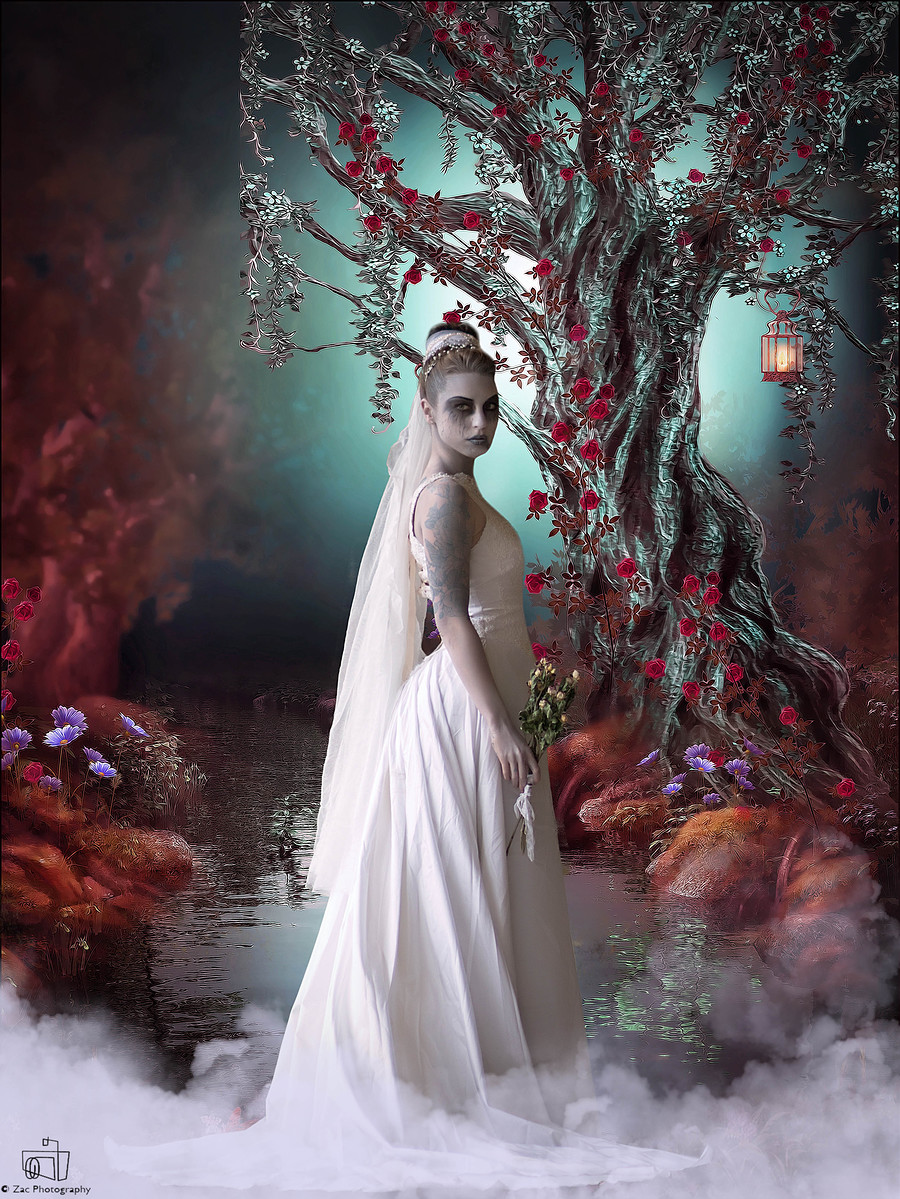 deadly Bride edit 02 / Photography by Zac Photography, Model Jem Rose, Post processing by Purple Princess Edits / Uploaded 11th November 2015 @ 06:05 PM
