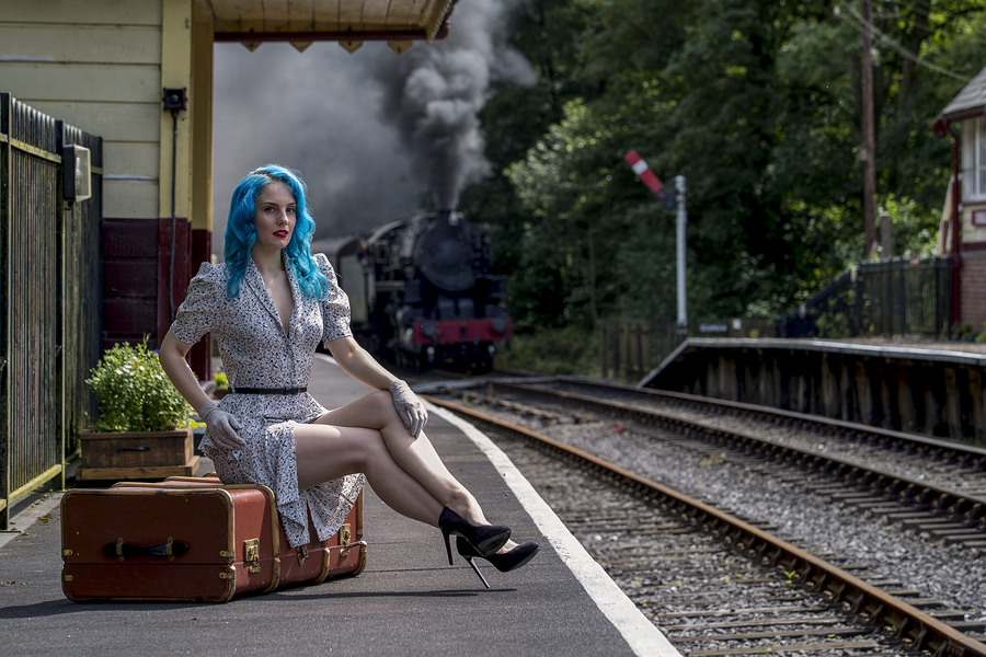 Platform 1 / Photography by Dave Gibson, Model Mina Von Vixen / Uploaded 2nd August 2017 @ 11:06 PM