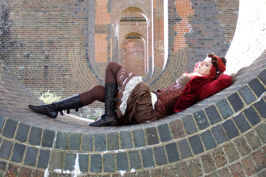 Steampunk at the Viaduct / Photography by Peter Lewry, Model Cosmic Starlight, Makeup by Cosmic Starlight, Stylist Cosmic Starlight / Uploaded 3rd June 2016 @ 04:22 PM