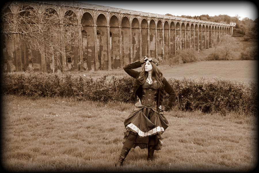 Steampunk at the Viaduct / Photography by Peter Lewry, Model Cosmic Starlight, Stylist Cosmic Starlight / Uploaded 23rd July 2016 @ 08:01 PM