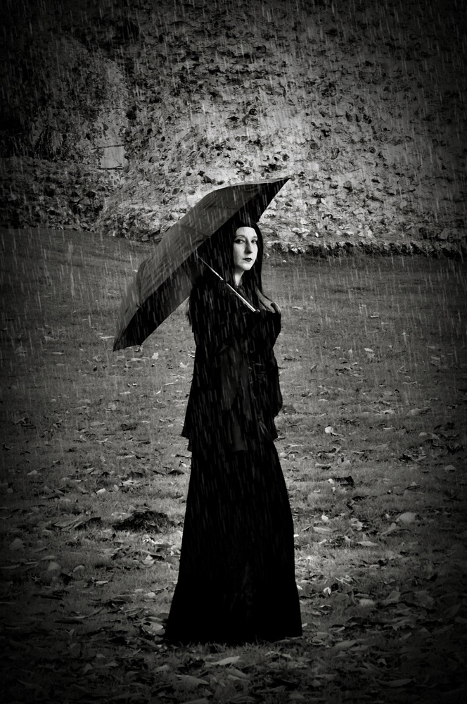 Sombre Rain / Photography by Peter Lewry, Model Cosmic Starlight / Uploaded 13th November 2016 @ 04:59 PM