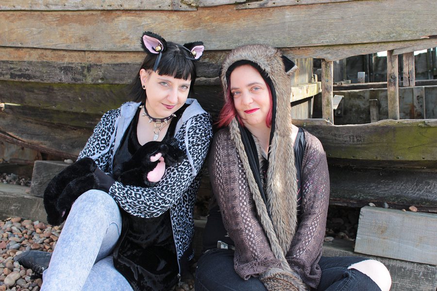 Furry Friends in Brighton / Photography by Peter Lewry, Models Cosmic Starlight, Models Anastasia Nyghtshade, Post processing by Peter Lewry, Stylist Cosmic Starlight, Stylist Anastasia Nyghtshade / Uploaded 5th April 2017 @ 07:33 PM