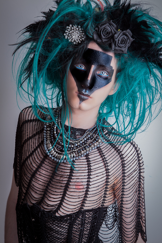 Tim Burton-esque / Photography by Yekim, Model oliversedgwick, Makeup by MelVicMakeup, Post processing by Yekim, Taken at MelVicMakeup, Hair styling by oliversedgwick / Uploaded 12th July 2017 @ 06:43 PM