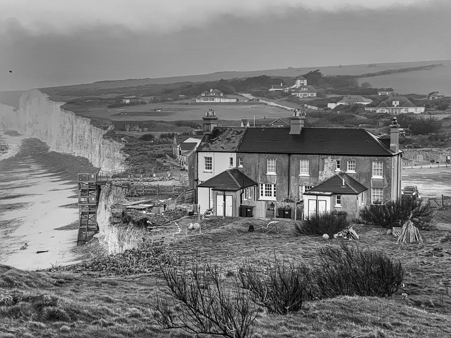 Birling Gap Cottages / Photography by Photographer Gino Cinganelli / Uploaded 1st March 2021 @ 04:51 AM
