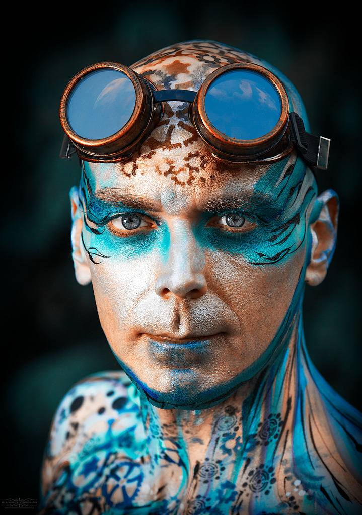Dave SteamPunk Body Paint / Photography by Alex Burnell Photography / Uploaded 11th December 2017 @ 09:43 PM
