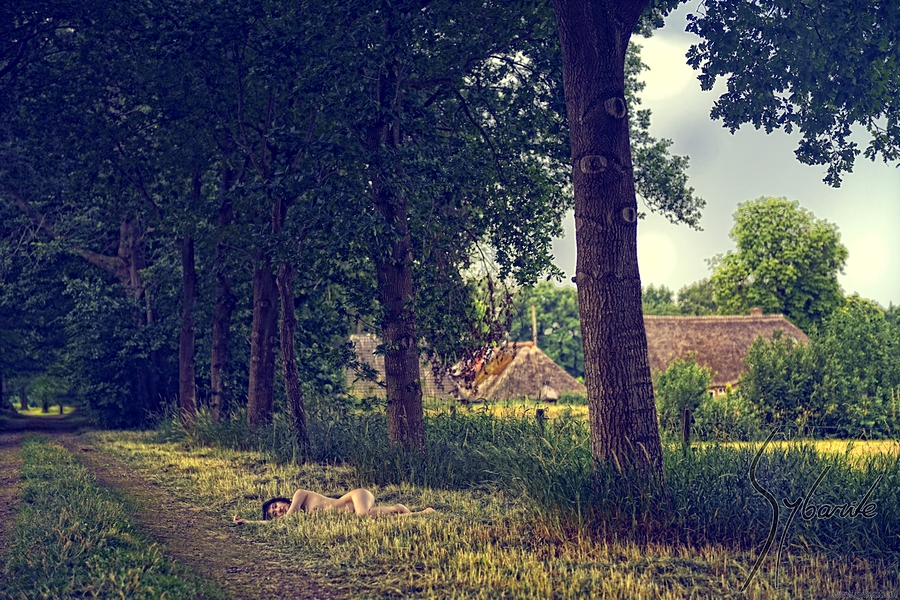Dutch Landscape - Little Farmhouse / Photography by Sybarite, Model Sonya Lynn, Makeup by Sybarite / Uploaded 2nd July 2017 @ 05:31 PM