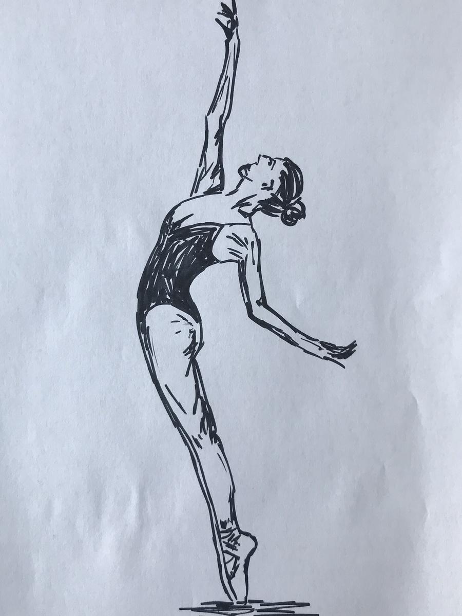 Dancer - Sketch / Photography by Blofeld, Model BOou, Artwork by Not Björn - Artist / Uploaded 12th October 2019 @ 11:19 AM