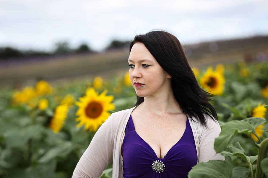 Sunflowers / Photography by AweFull Photos, Model -Natalie- / Uploaded 28th August 2021 @ 09:25 AM