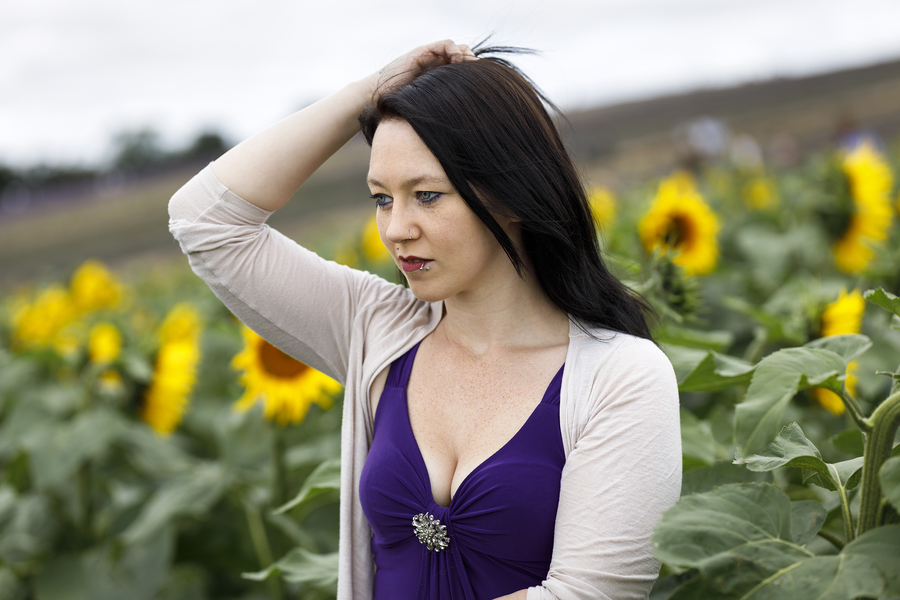 Sunflowers / Photography by AweFull Photos, Model -Natalie- / Uploaded 28th August 2021 @ 10:22 AM