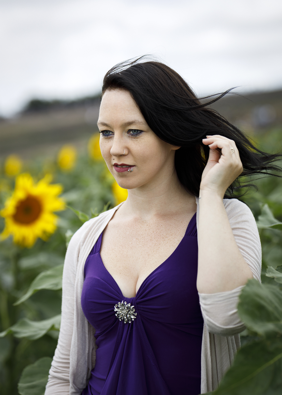 Sunflowers / Photography by AweFull Photos, Model -Natalie- / Uploaded 28th August 2021 @ 11:16 AM