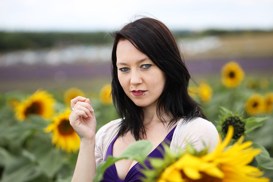 Sunflowers / Photography by AweFull Photos, Model -Natalie- / Uploaded 28th August 2021 @ 01:44 PM